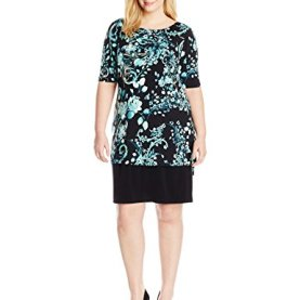 Tunic Overlay Print Sheath Dress