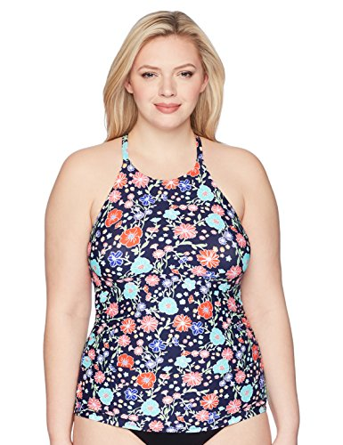 Floral High Neck Tankini Swimsuit