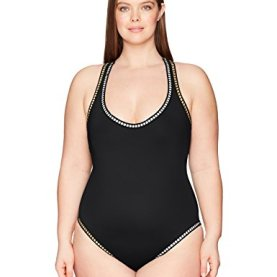 Plus Cross Back One Piece Swimsuit