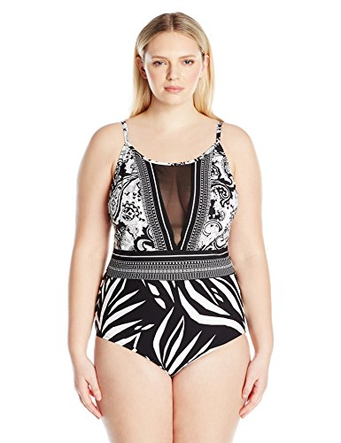 Hi-Neck Plunge One Piece Swimsuit