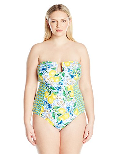 Plus Bandeau One Piece Swimsuit