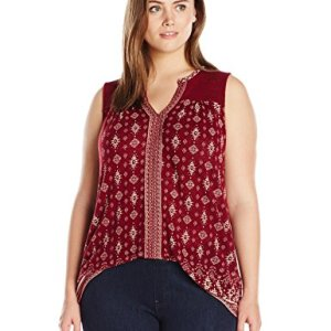 Plus-Size Mixed Geo Tank Top