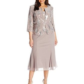 Sequin Mock Jacket Dress