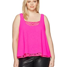 Plus Size Double Layer Cami
