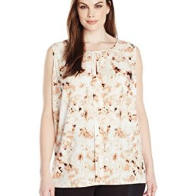 Woven Sleeveless Printed Top