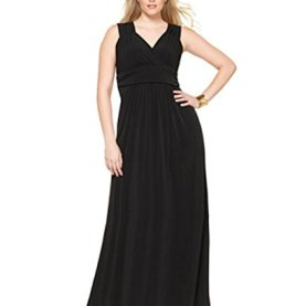 Plus Maxi Surplice Cocktail Dress