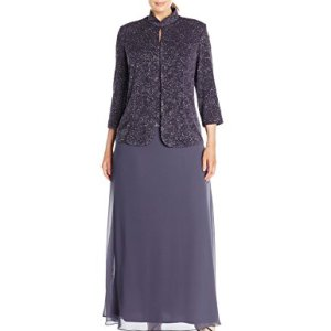 Gown and Mandarin Jacket Set