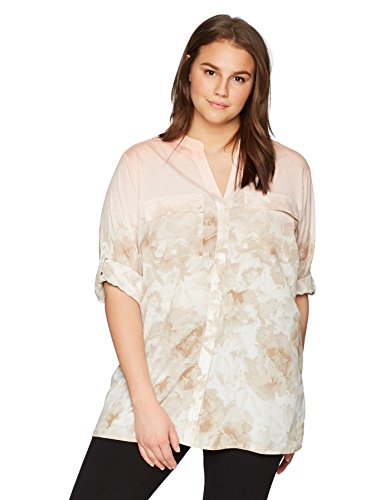 Prtd Roll Slv Blouse