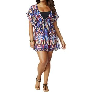 Cold-Shoulder Chiffon Tunic Cover Up