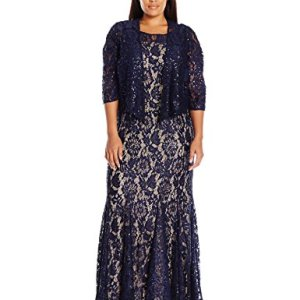 2 Piece Lace Jacket Evening Dress