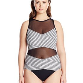 Mesh High Neck Sexy One Piece Swimsuit