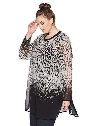 Plus Size Printed Long Tunic