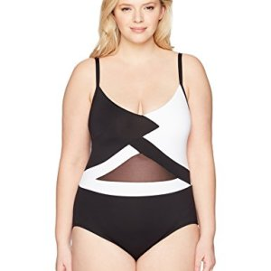 Shoulder Mesh Sexy One Piece Swimsuit
