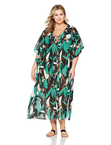 Lace up Front Maxi Cover up
