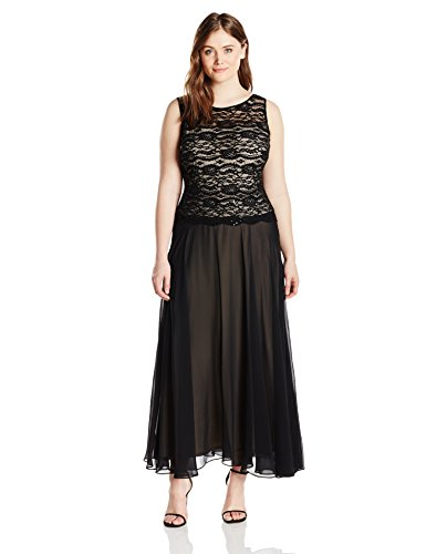 Lace Bodice Gown Chiffon Skirt