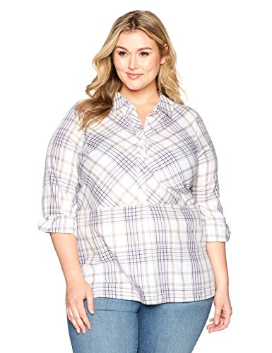 Plus Size Winter Plaid Tunic