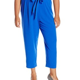 Tie Front Straight Leg Pant