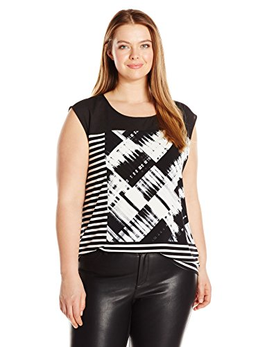 Plus Size Mixed Print Top