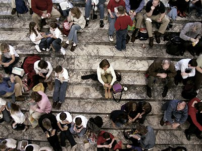 Image result for alone in a crowded room