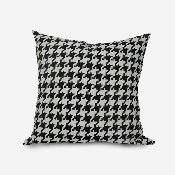 black and white houndstooth throw pillows cushion euro sham cover