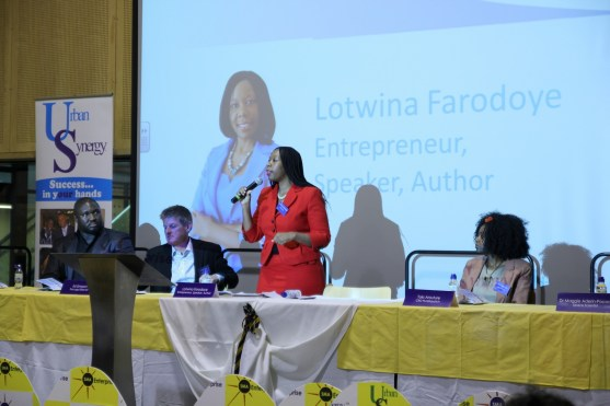 Lotwina Farodoye at Urban Synergy Role Model Seminar, St Matthew Academy