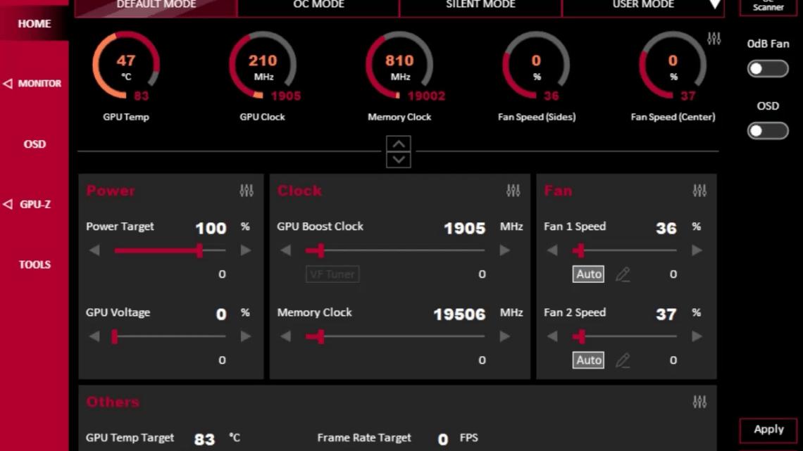 ASUS GPU Tweak III Beta Revealed