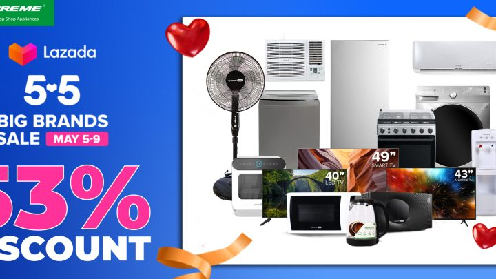 Lazada 5.5 Big Brands Sale: Up to 53% Discount on Xtreme Appliances