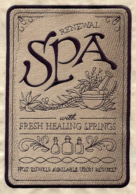 Spa Sign Urban Threads Unique And Awesome Embroidery