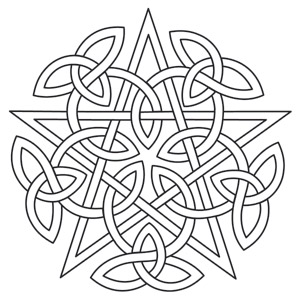 Knotwork Pentacle Urban Threads Unique And Awesome