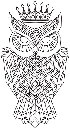 owls regal owl uth5653 craft a majestic look with this geometric owl