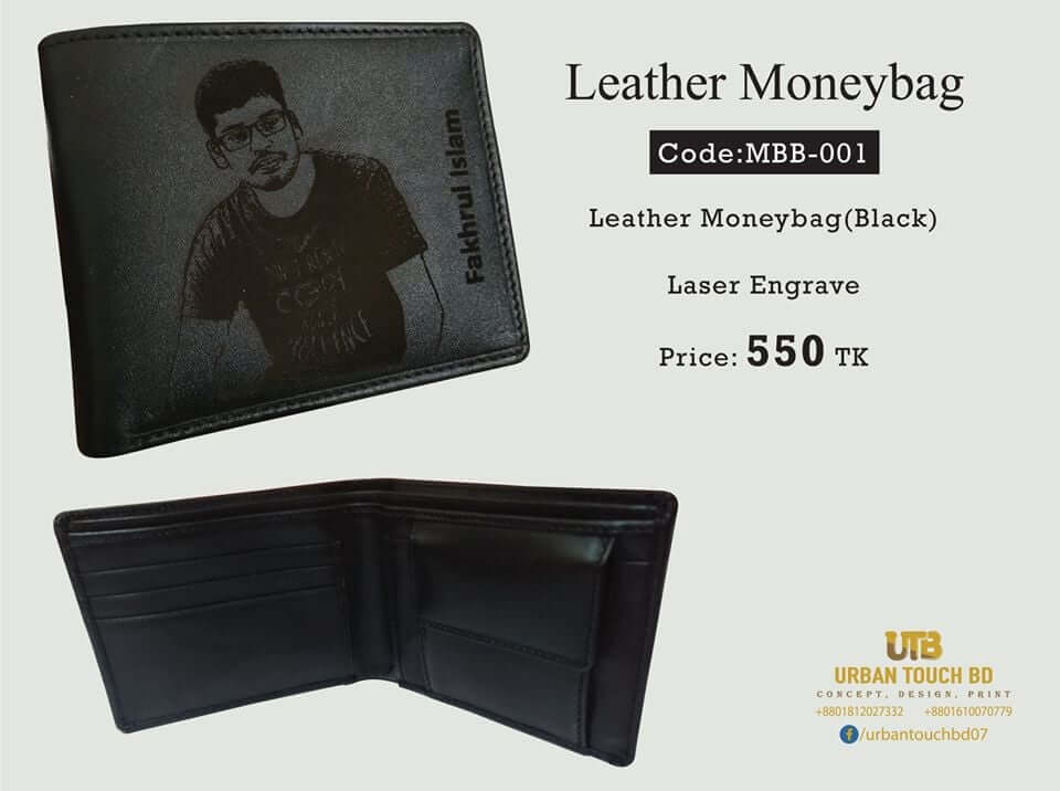 Mens wallet with name engraved