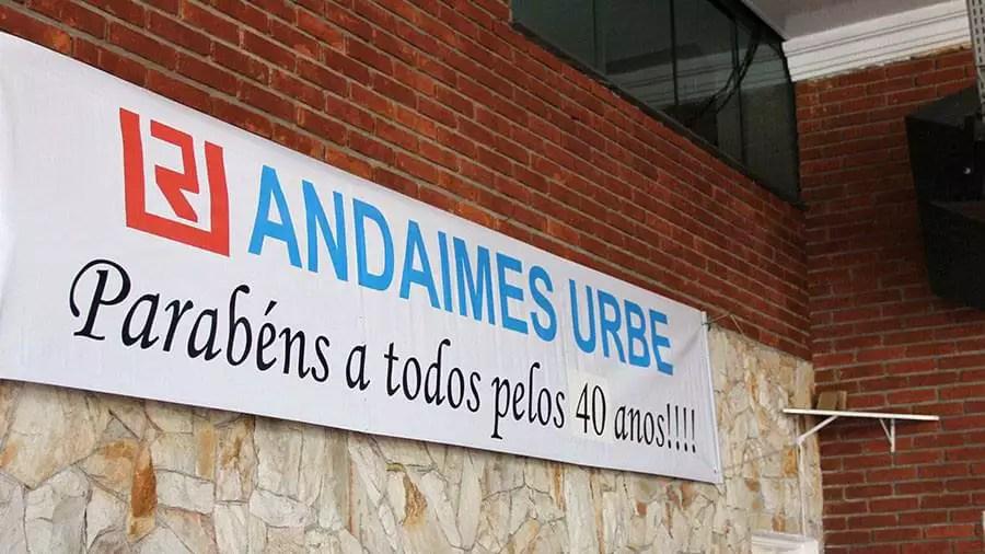 Andaimes Urbe 40 anos