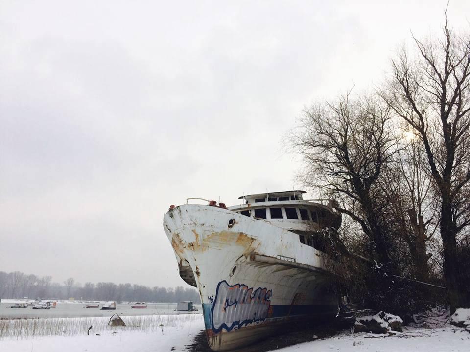 Frozen Boat