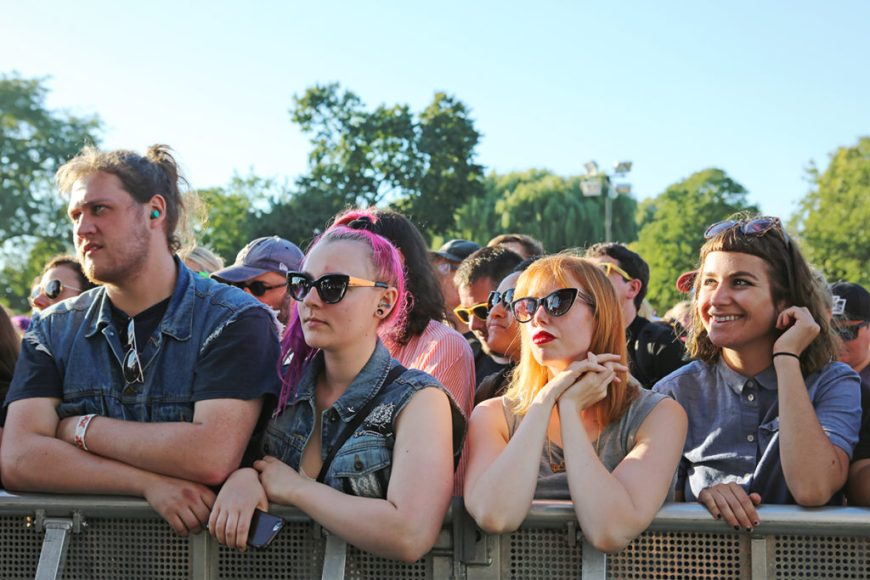Picture of fans watching the Julie Ruin at Riot Fest 2016
