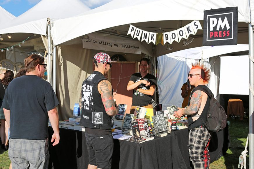Picture of Punk Books for sale at Riot Fest Chicago 2016