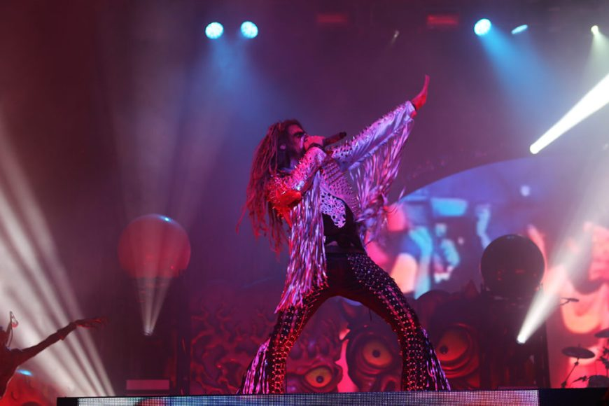 Picture of Rob Zombie performing at Riot Fest 2016