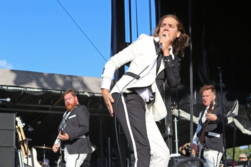 Picture of The Hives performing at Riot Fest Chicago 2016