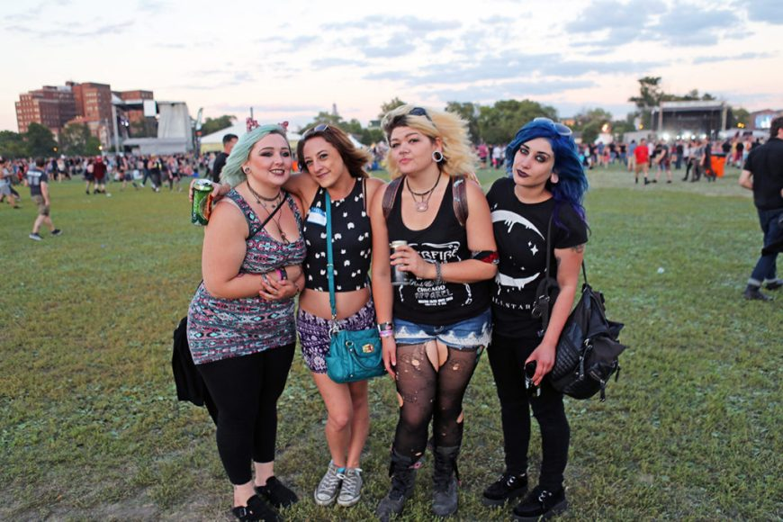 Picture of female fans at Riot Fest Chicago 2016