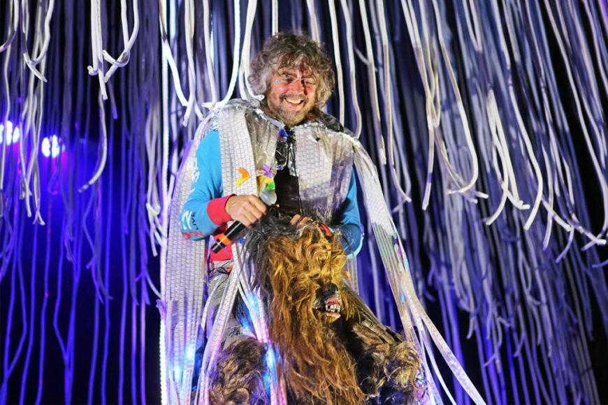 Picture of Wayne Coyne and Chewbacca at Riot Fest Chicago 2016