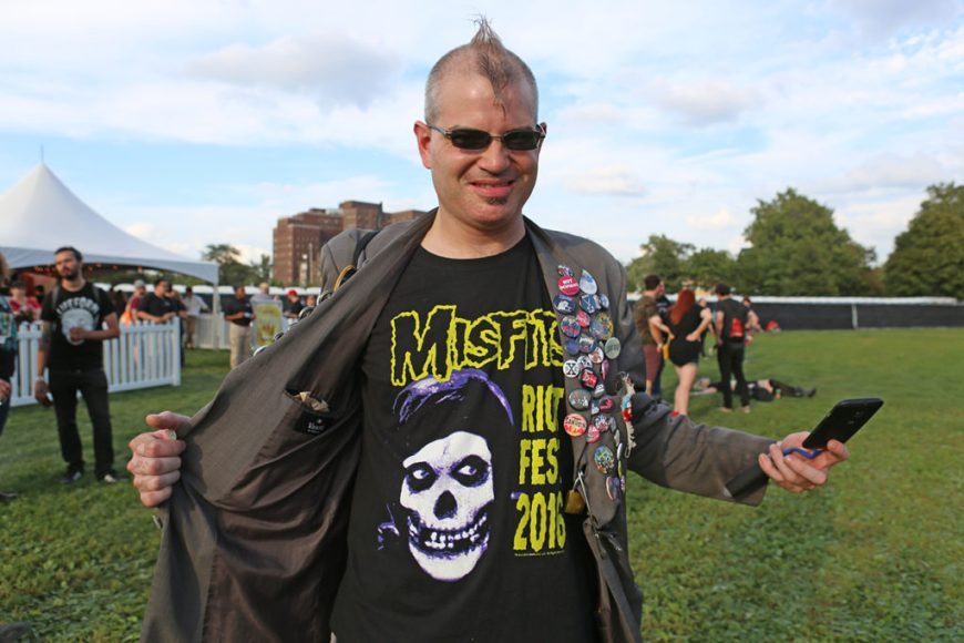 Picture of Misfits fans at Riot Fest Chicago 2016