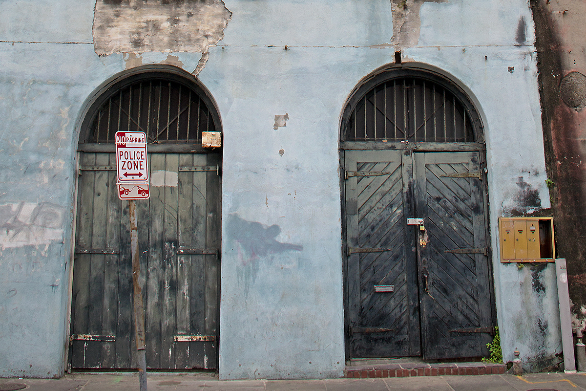 Photo of weathered doors in New Orleans' French Quarter