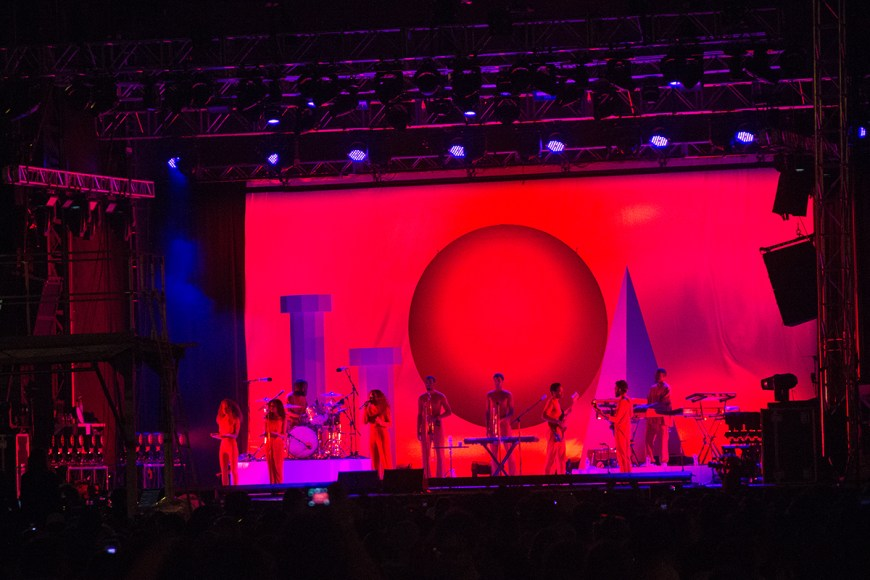 Image of Solange performing at Pitchfork
