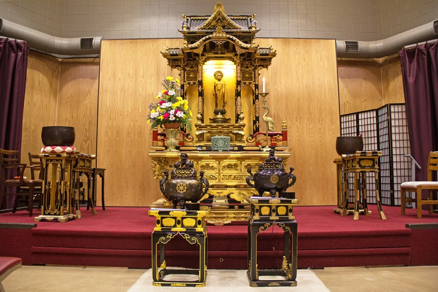 Altar at the Buddhist Temple of Chicago