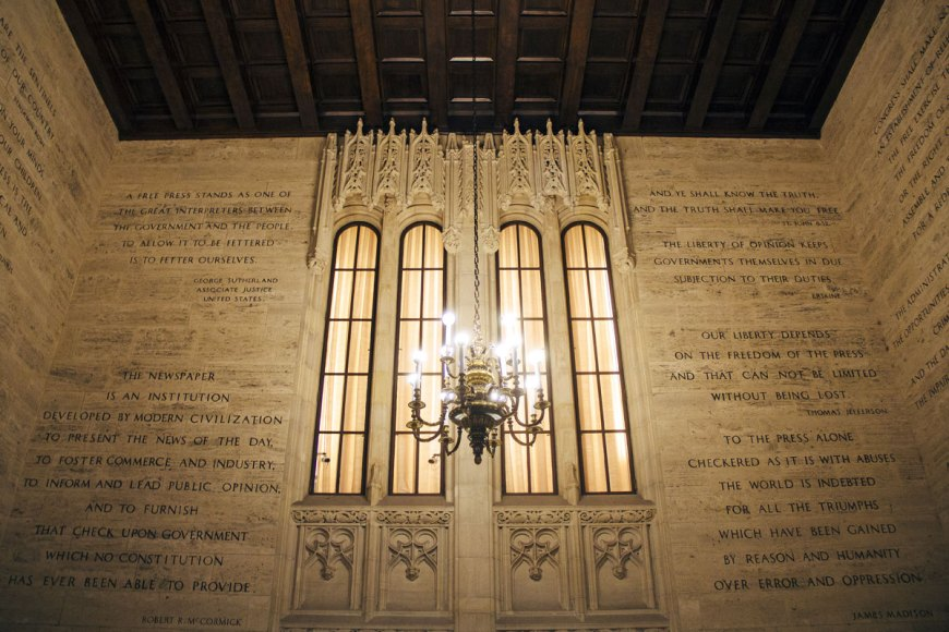 Hall of Inscriptions at Tribune Tower