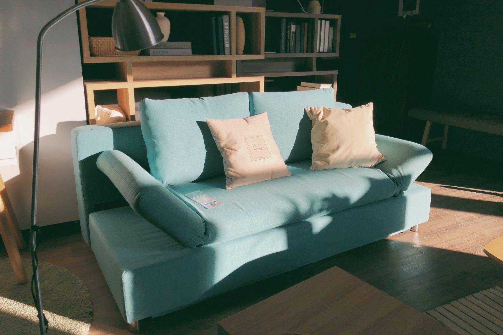 UR Design 科伊藍綠色可收納沙發床