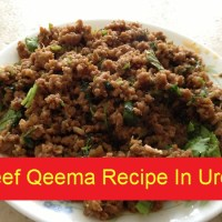 Beef Qeema Recipe In Urdu