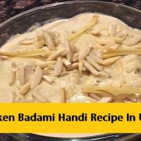 Chicken Badami Handi Recipe In Urdu