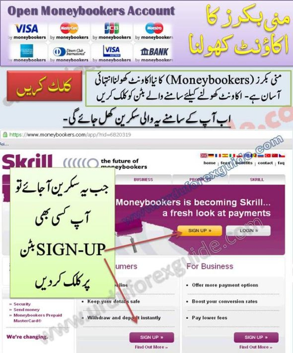 How to open moneybookers account, all steps tutorial in Urdu, moneybookers.com is a best way to deposit and withdraw funds from Forex Trading Account