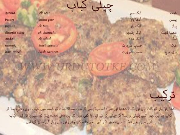 chapli kabab recipe in hindi and urdu