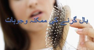 Causes of hair fall in urdu - Baal Girne ki Mumkina Wajoohat